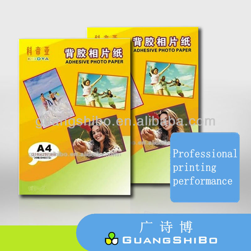 Audited Factory Sell Directly 135g A4 Glossy Inkjet Self-adhesive Photo Paper