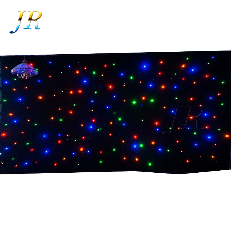 Cheap Price Christmas RGB Backdrop DJ Drape Wedding Decoration Fabric Light Stage Led Star Drop Curtain For Sale
