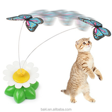 New Electric Butterfly Flying Around the Flower Pet Cat Toys Products