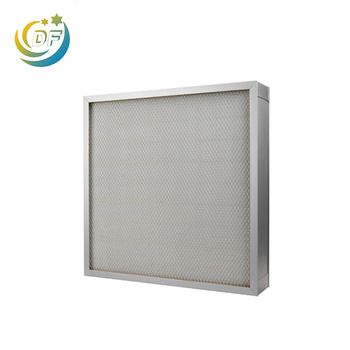 99.97% efficiency mini-pleated HEPA filter made of fiberglass/PP material