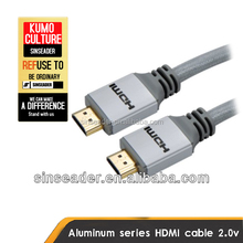 HDMI 2.0 Cable - Braided Cord 15 ft - Ultra High Speed 18Gbps Wire - Gold Plated Connector Tip(s) - Ethernet / Audio Return - Vi