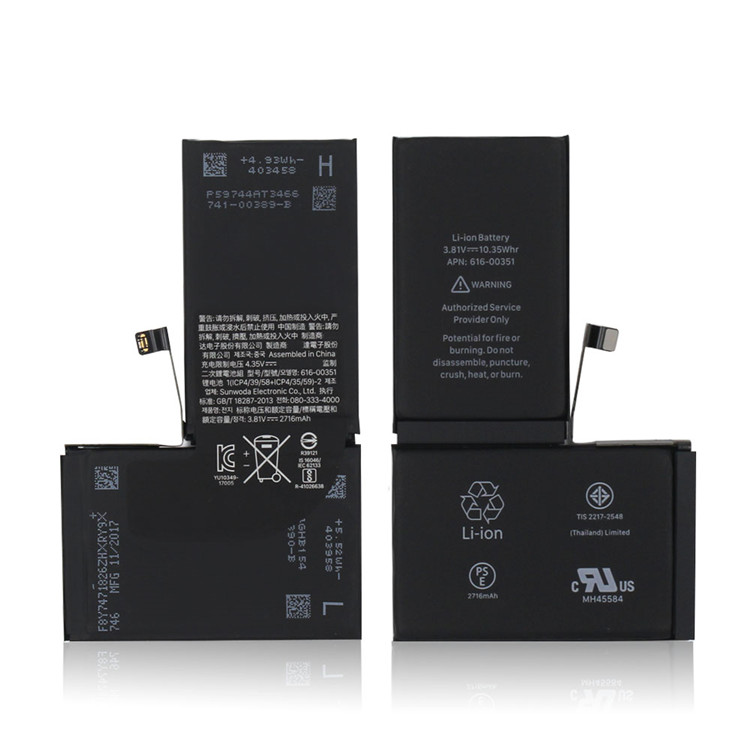 100% Genuine Li-ion Battery Replacement Full Strength for iPhone X 10