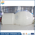 huale Transparent Outdoor Camping Inflatable Bubble Tent With 0.9mm PVC