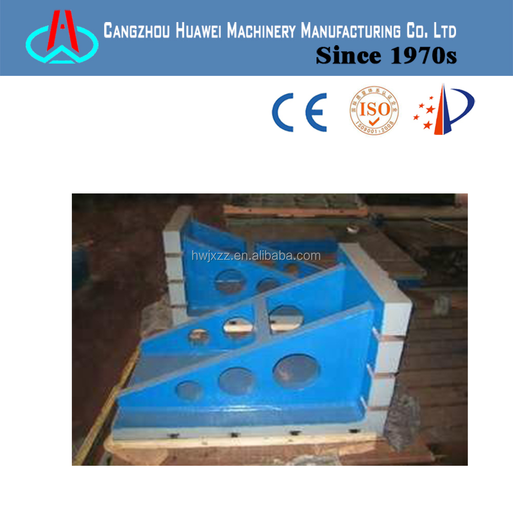 inspection cast iron angle plate with t-slot
