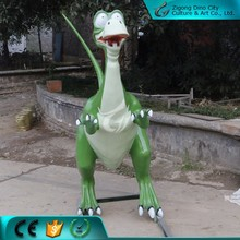 Fiberglass Cartoon Realistic Outdoor Dinosaur Sculpture