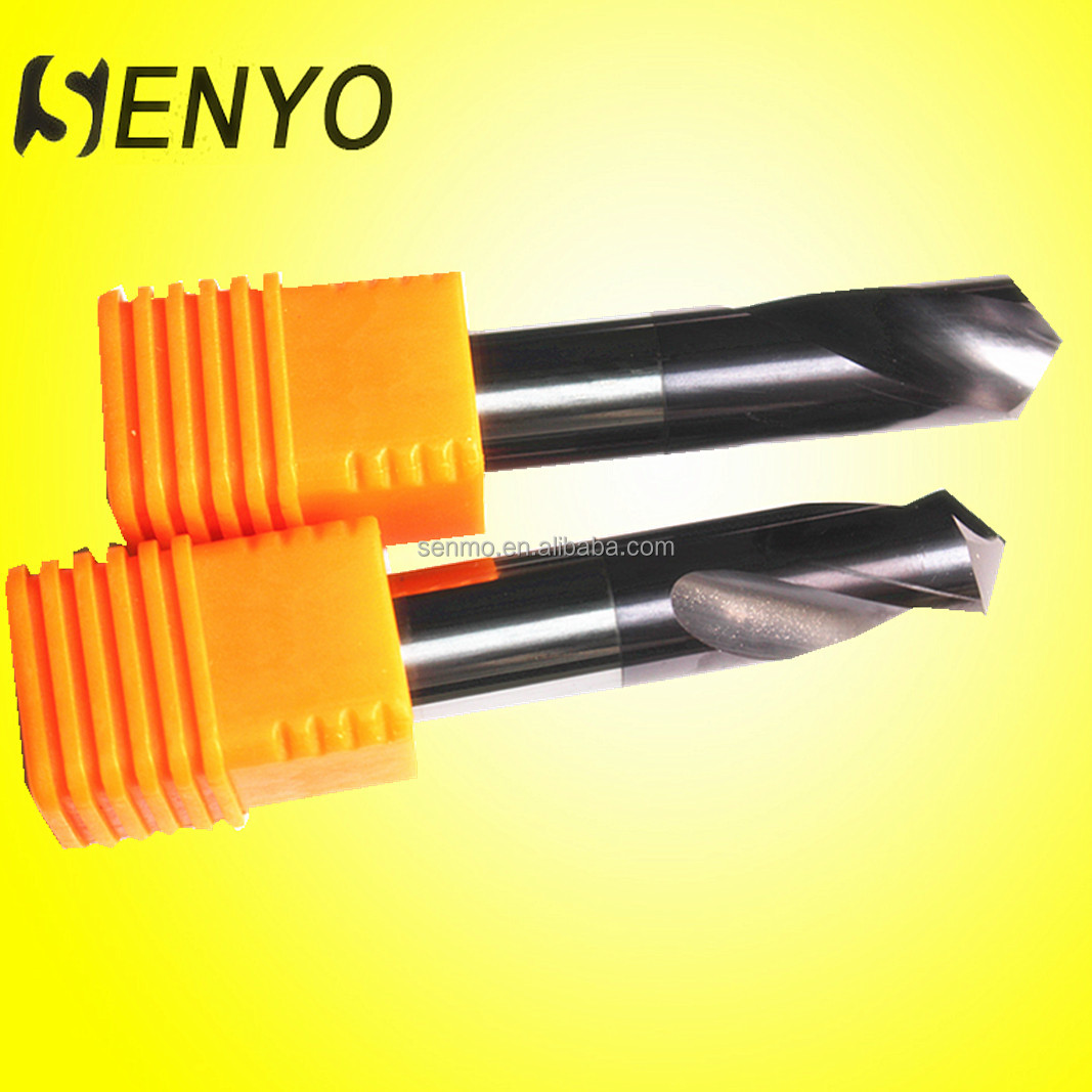 China carbide 90 degree spot drill wholesale tools/rock drill
