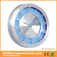 special aluminum frame wall clock electric
