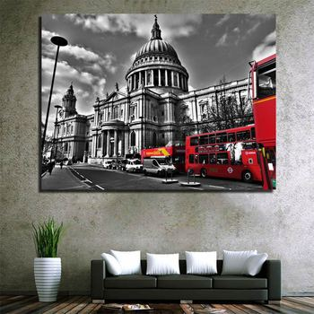London Street View Canvas Painting Home Goods Wall Art Painting Wall Pictures Home Decor Wall Decoration Painting on Canvas