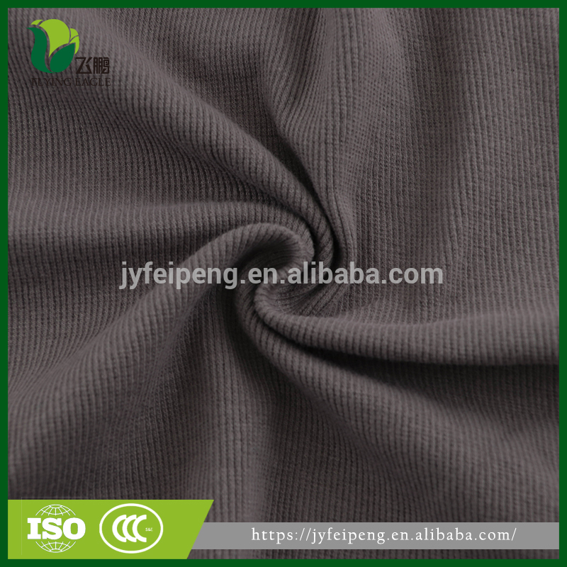 Knit rib fabric for jacket bottom hem cuff collar