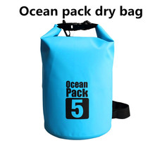 Custom logo PVC tarpaulin 5L ocean pack dry bag outdoor waterproof dry bag With Shoulder Straps
