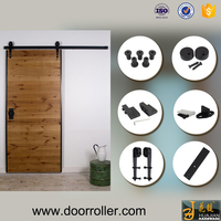 2016 Modern Black colour sliding wood panel interior door roller system