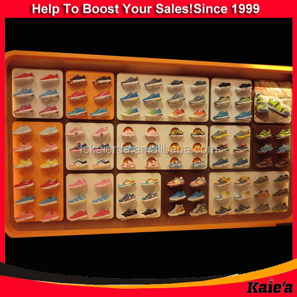 shoe shop display rack/shoe shop display shelf/shoes shop display