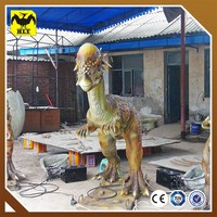 Outdoor playground silicone life-size dinosaur models