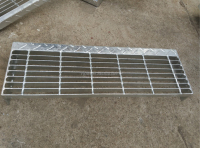 Steel Grating Stair Tread with Checkered Plate
