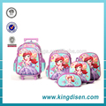 high quality teenager kids trolley school bag made in China