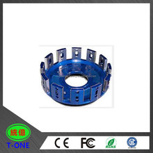 OEM custom cnc machining anodized aluminum motorcycle spare parts turning machined clutch basket