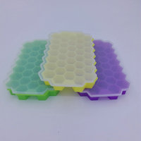 Factory wholesale silicone ice cube tray with cover 37-cell honeycomb ice maker