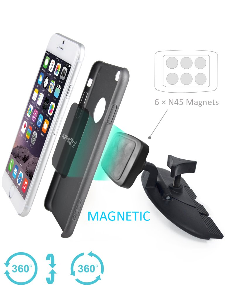 For samsung galaxy s6 phone holder,car accessories 6-in-1N45 magnets magnetic car mount for iphone 6s