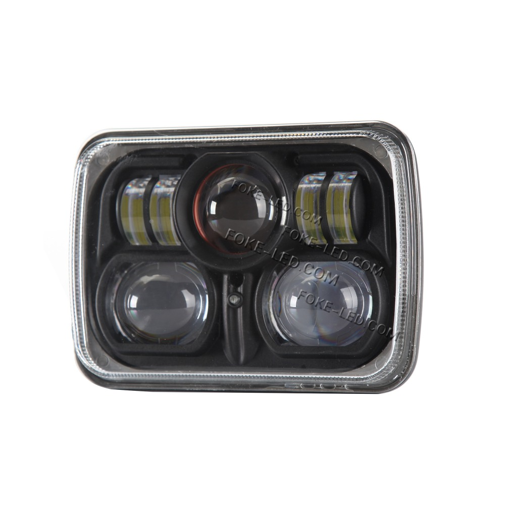 "New Black 5"" X 7"" LED Headlight Replacement for Jeep Cherokee XJ Trucks lighting"