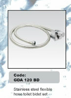 Stainless Steel Flexible Hose Toilet Bidet Set
