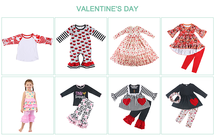 New design woven bulk clothing baby clothes girls outfits kids clothing set
