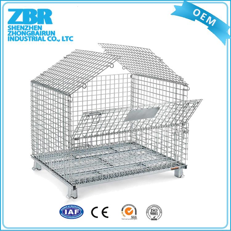 Decorative metal containers/metal folding roll storage cage