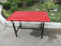 Modern Design Powder Coated Outdoor Iron Metal Table