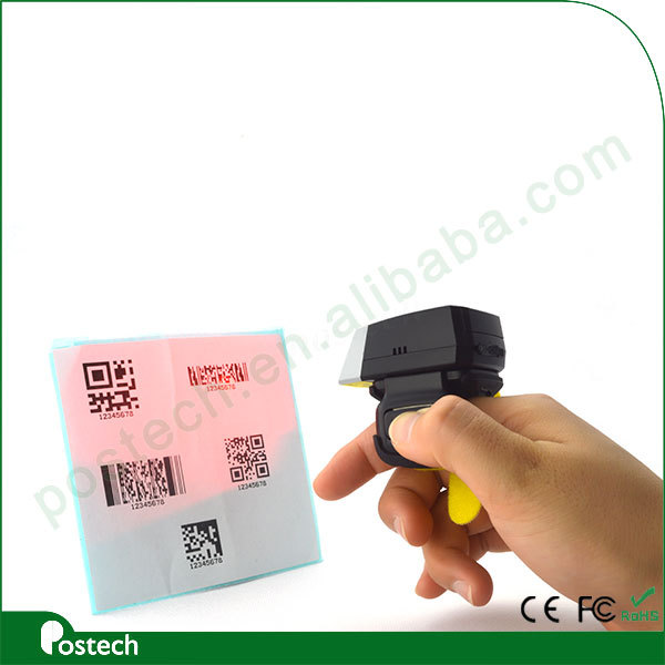 FS02 USB/ bluethooth Handheld 2d QR Laser Barcode Scanner, Wearable price bar code sacnner