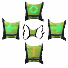 Hot selling reflective running gilet with led light for night safety runner sport gear