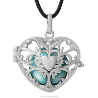 Popular European MOM and Baby Jewelry 925 Sterling Silver Plated Angel Callers Pendant Mexican Bola Harmony Bola H216