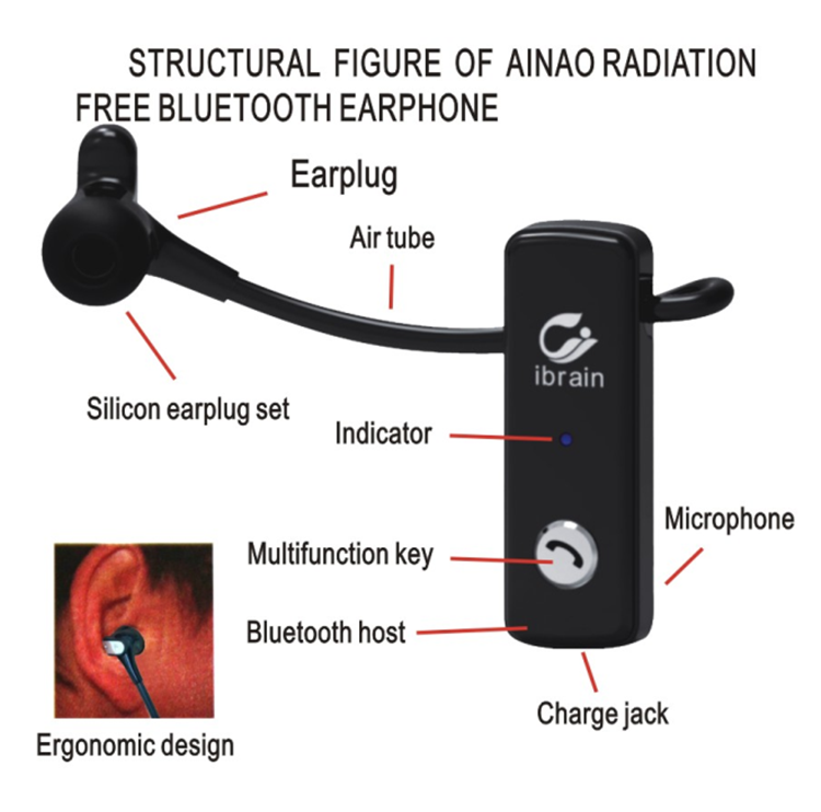 amazon air tube radiation free wireless bluetooth headset. Black Bedroom Furniture Sets. Home Design Ideas