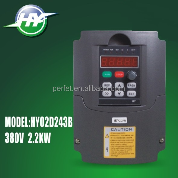 HY INVERTERS HIGH QUALITY 50Hz 400Hz 2.2KW 380V 5A VARIABLE FREQUENCY DRIVE INVERTER VFD