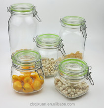 Square Hermetic Glass Storage Jar with Silicon Ring