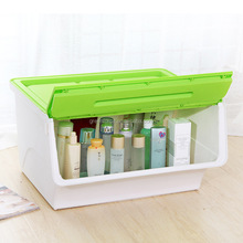 Plastic Storage Box Finishing Box Front Open Toy Debris Storage Box