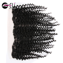 Factory Price Afro Kinky Curl Human Hair Lace Frontal Piece Italian Curl Weave Human Hair Extension