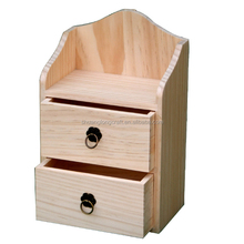 Custom High-Quality Unfinished Cheap Wooden Storage Cabinet with Drawers