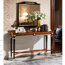 YB69 Long Narrow Console Table Wood Carved Antique Drawer Cabinet Drawer Table Luxury Classic Console table