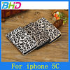 Leopard Pattern PU Leather Flip Cover case for iPhone 5c