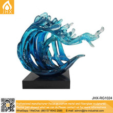 Clear Resin Christmas Decoration Waves Sculpture Abstract