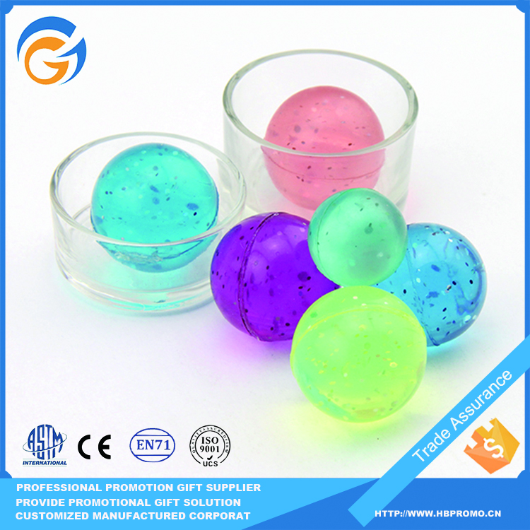Spiky Transparent Rubber Ball for Kids Play Outdoor Game
