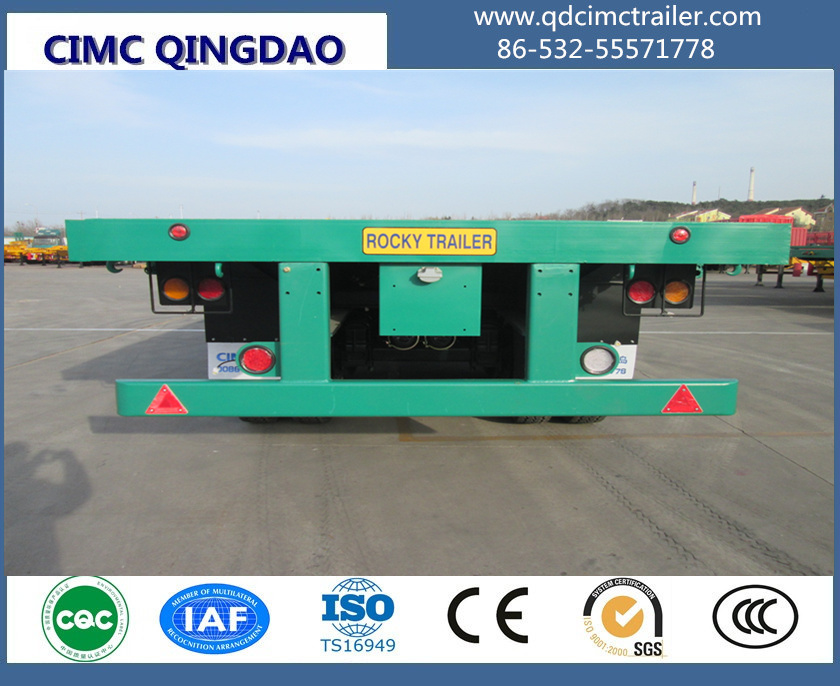 60ton tandem bogie axle flat bed Trailer