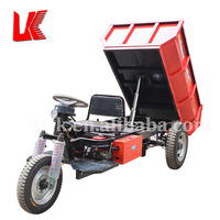 electric 3 wheel dump truck scooter car/electric mini dumper truck tricycle
