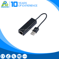 Black color USB 2.0 lan network adapter for tablet