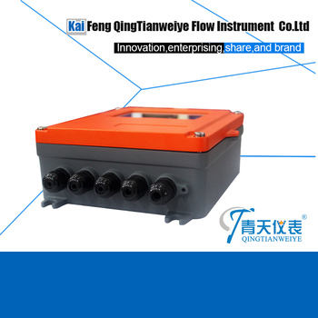intelligent wall mounted clamp on temperature and flow sensor ultrasonic thermal flow meter