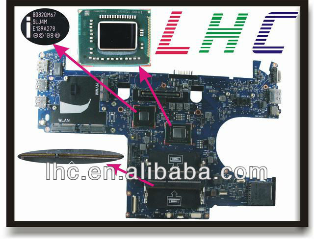 E6220 MOTHERBOARD for dell laptop motherboard with i5 CPU on board integrate QM67 862D8 0862D8