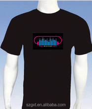 Latest Sound Active Led tshirt EL Led tshirt
