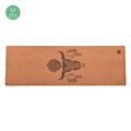 Eco Friendly durable anti slip natural rubber cork yoga mat