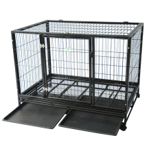 China wholesale indoor folding dog cage / metal dog cage / welded wire mesh dog cage