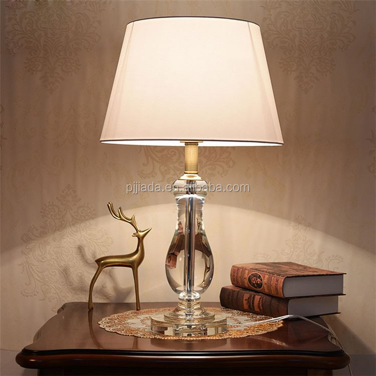 TOP SALE simple design crystal table lamp with different size