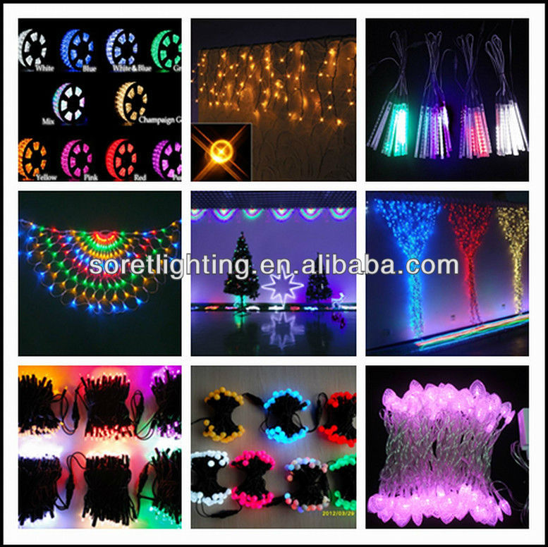 new design christmas led meteor shower lights